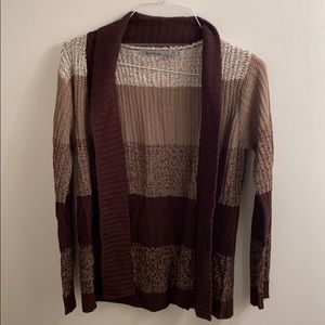 Jason Maxwell Brown Striped Cardigan